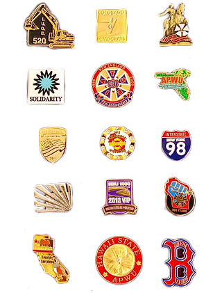Union Made Lapel Pins Examples